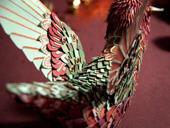 Paper Sculpture Bird Tutorial