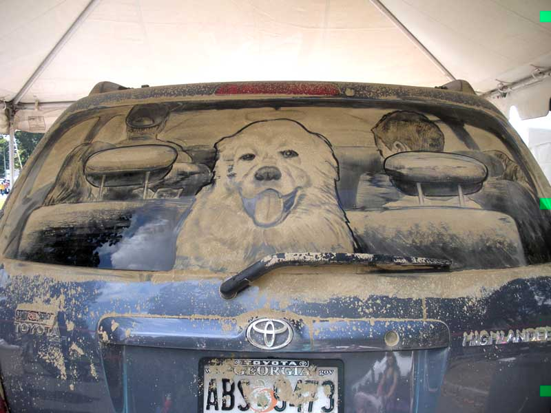 design magazine  Amazing car dust paintings of Scott Wade