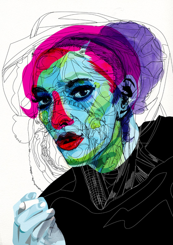 design magazine  Mixed media illustrations by Alvaro Tapia Hidalgo