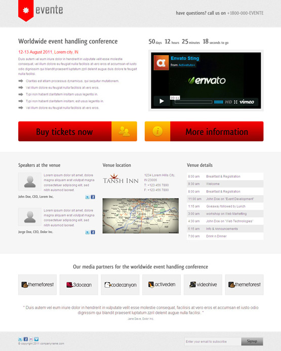 Wordpress event theme event management website templates preview download pronofoot35fo Image collections
