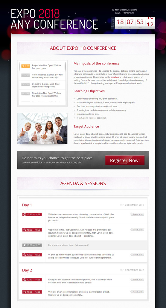 web design premium  20 Web templates for your event management