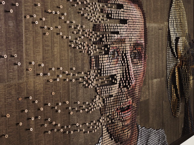 inspiration design magazine  Unique 3D portraits using the screw art, by Andrew Myers