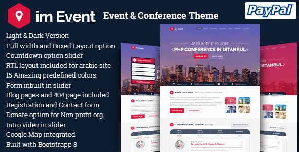 Wordpress Event Theme Event Management Website Templates - Website templates wordpress
