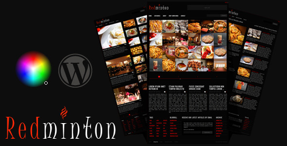 premium  Redminton Restaurant WordPress Template