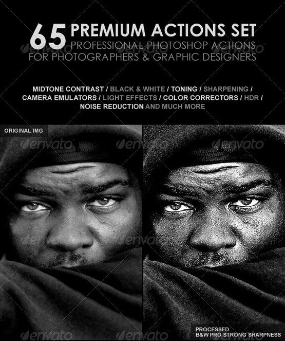 resources premium graphic design  25 Adobe Photoshop actions for Photography Touch Up and Enhancement