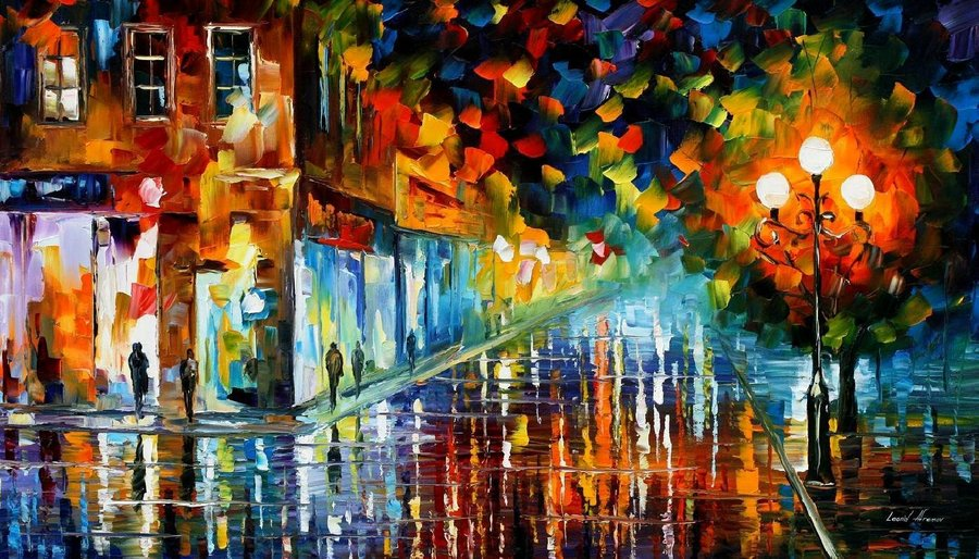 design magazine  The modern impressionistic art of colors by Leonid Afremov