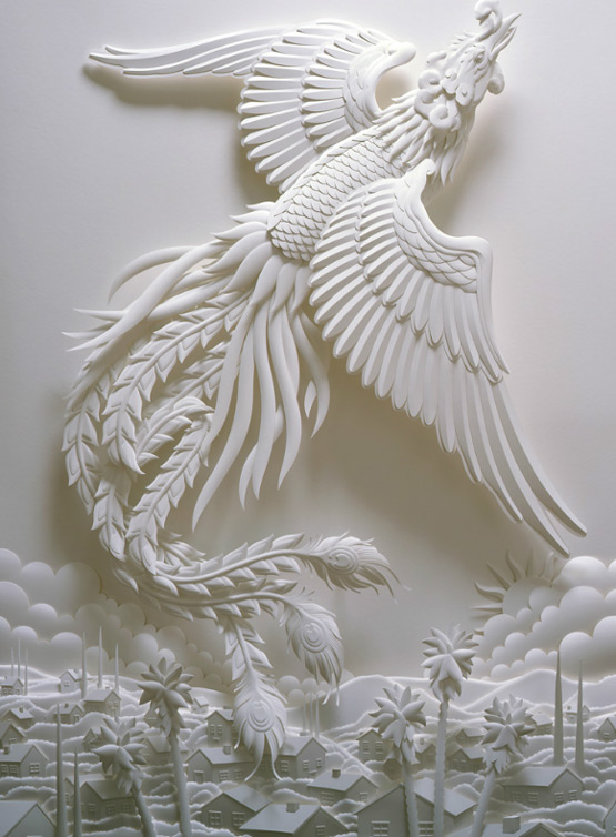 design magazine  Paper sculpture art by Jeff Nishinaka