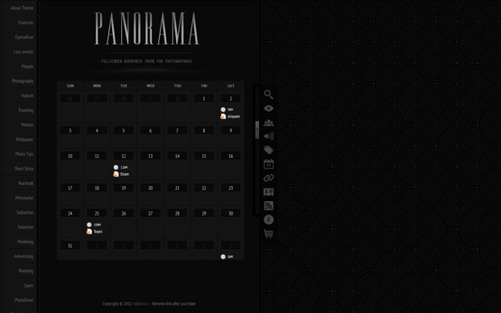 premium  Panorama Fullscreen Photography WordPress Theme with EXIF data