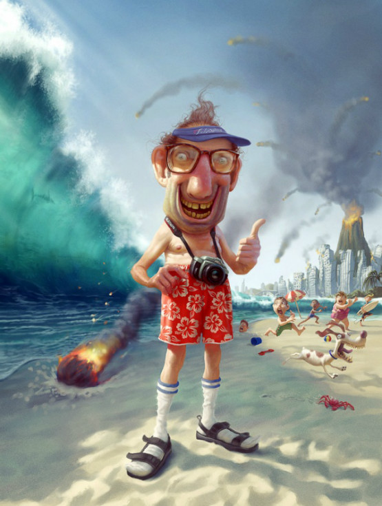 design magazine  Humorous digital illustrations by Tiago Hoisel