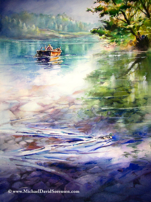 amazing watercolor painting by michael david sorensen