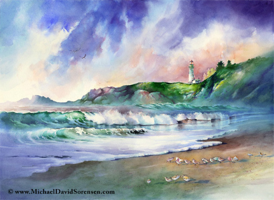 design magazine  Amazing watercolor painting by Michael David Sorensen