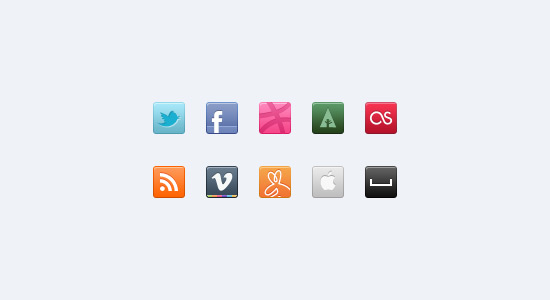 resources  20+ Free Social Media Icon Sets with PSD and Vector resources