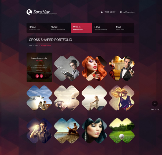 web design inspiration  35 Web designs layouts with unusual shapes and geometry