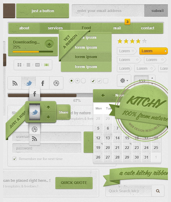 resources  70 Free GUI / UI / UX PSD kits and web elements for download