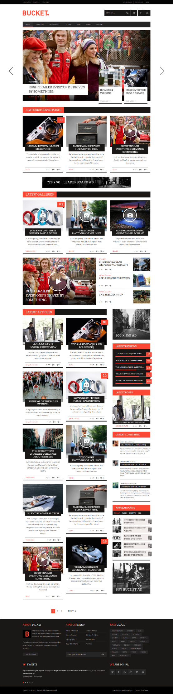 Impressive Collection Of Magazines Inspirational Wordpress Themes