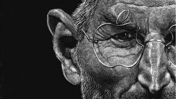 Steve Jobs Scratchboard Illustrations