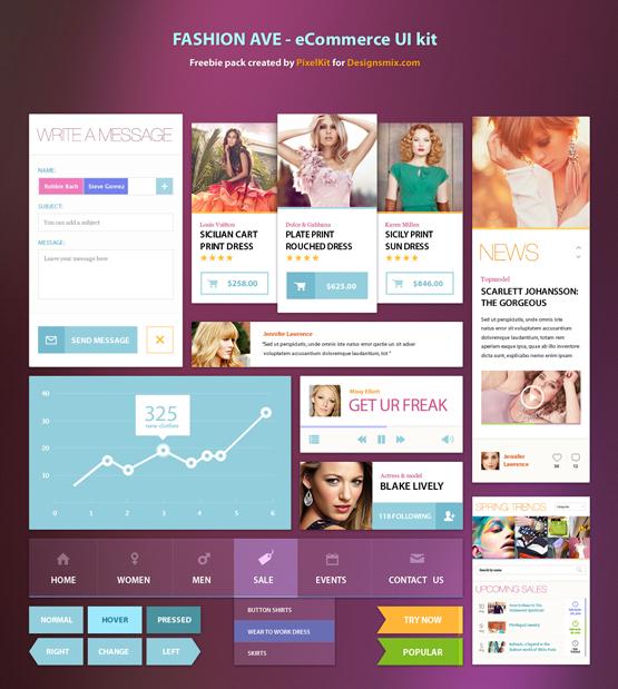 eCommerce UI kit free