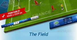 3D Soccer Football Field Generator