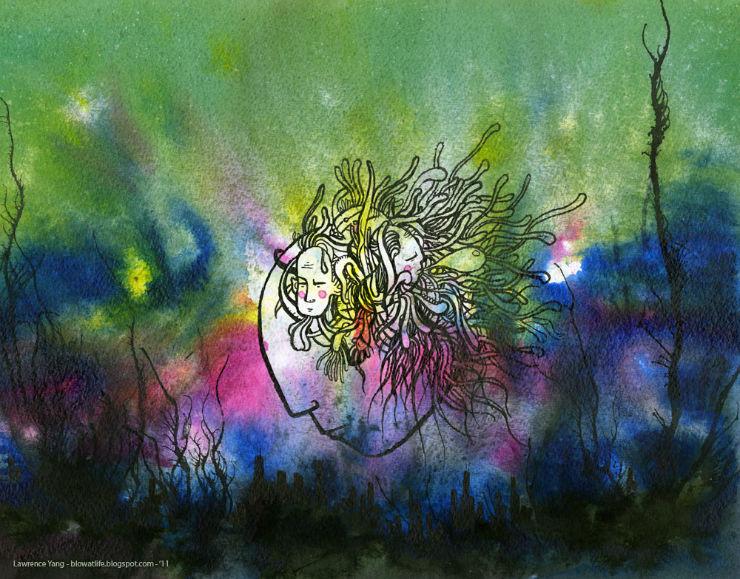 watercolor artist Lawrence Yang