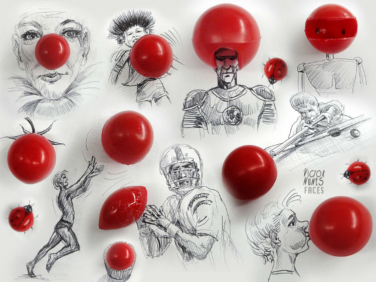 Victor Nunes food art and sketches