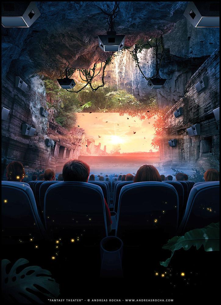 Andreas Rocha concept art - Fantasy Theater