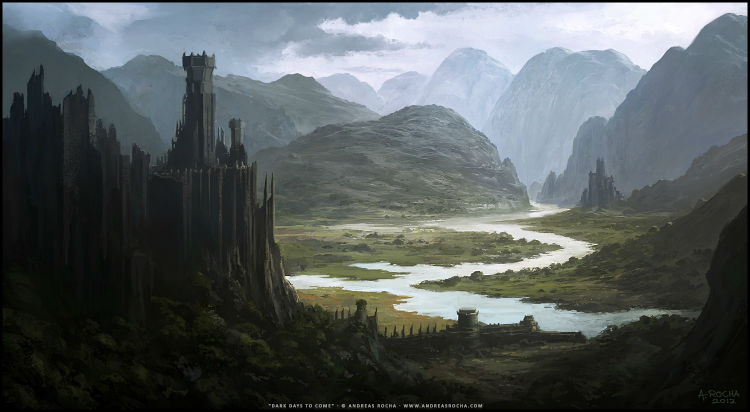 Andreas Rocha matte painting