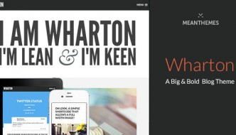 Download Wharton:Big & Bold WordPress Blog Theme Free-Theme Of The Month August 2015
