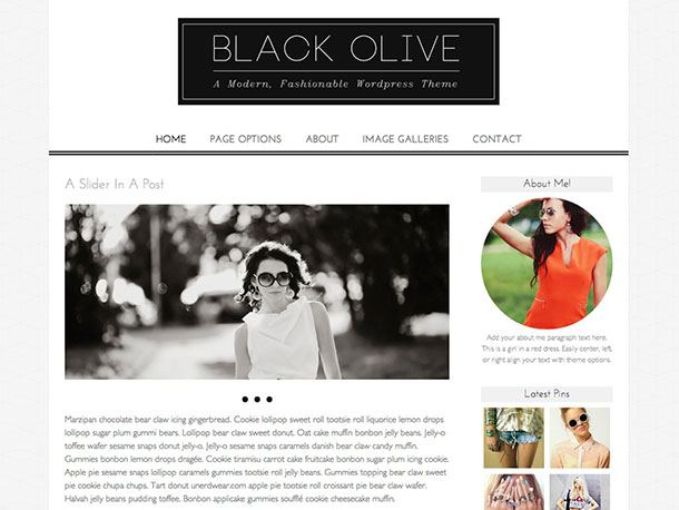 black olive theme