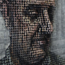 Unique 3D portraits using the screw art, by Andrew Myers