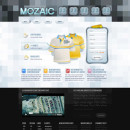 Mozaic &#8211; Free Adobe Photoshop Website Template