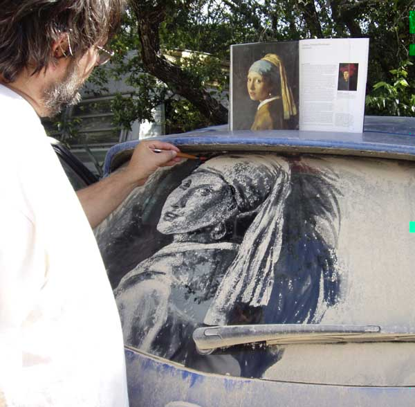 Amazing car dust paintings of Scott Wade
