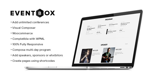 Eventbox - Club:Workshop:Party WordPress Theme
