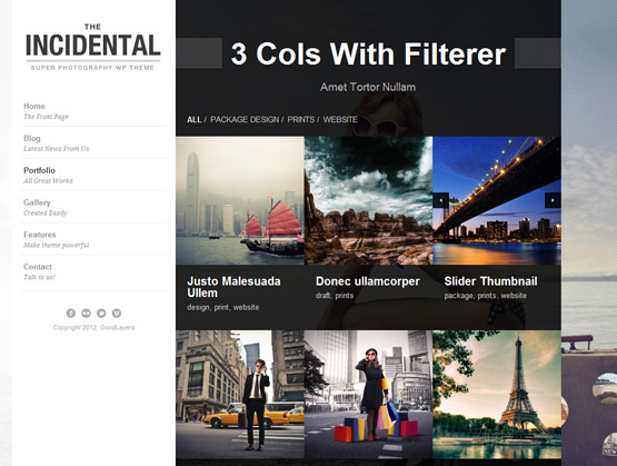 Incidental – High Class Photography WordPress Theme