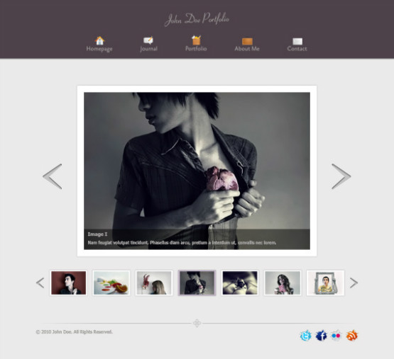 Portfolio Site Examples: 40 Free Professional PSD Website Templates For Download