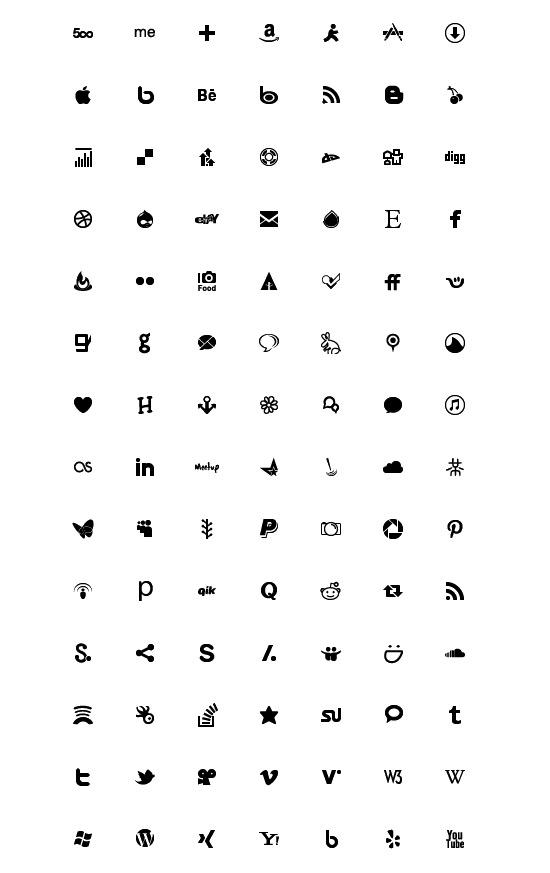 social media icons free vector