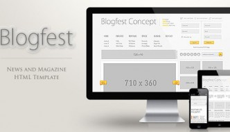 Blogfest – Blog, News and Magazine HTML template
