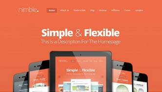 Nimble – Simple and Clean WordPress Theme