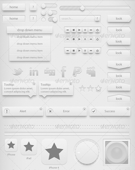 70 Free GUI / UI / UX PSD kits and web elements for download -