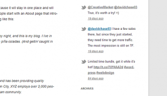 Recent Tweets Widget for WordPress with the new Twitter API v1.1