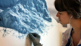 Hyper Realistic iceberg and ocean paintings by Zaria Forman