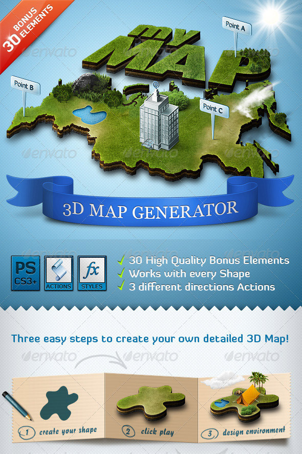 3D Map Creator - Adobe Photoshop 10+ Actions and Graphics ... Map Creator on map making, map projection, map north, world map outline, map of germany, map name, map scale, map star, map of us national parks, map illustrator, map of c, map of canada, map pushpin icon, map background, map country, map of europe and united states, map history, map layers, map title, map colors, site map creator, map marker, grid map, map of westeros, map of africa, map world,