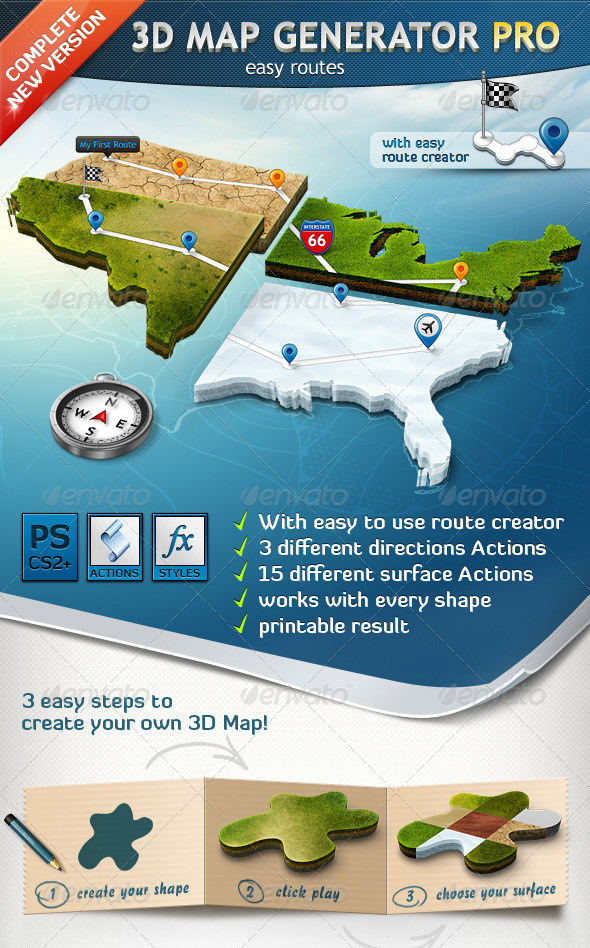 3D Map Generator Easy Routes
