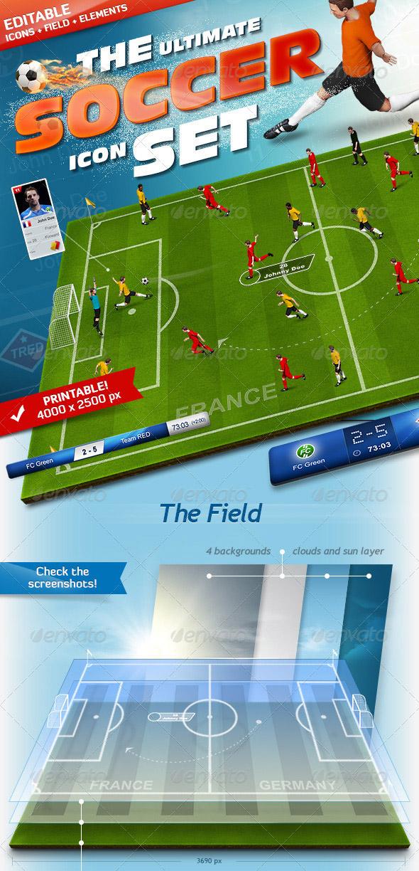 3D Soccer Football Field Generator