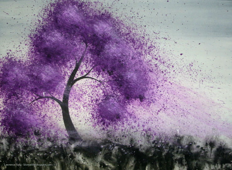 breeze watercolor Lawrence Yang