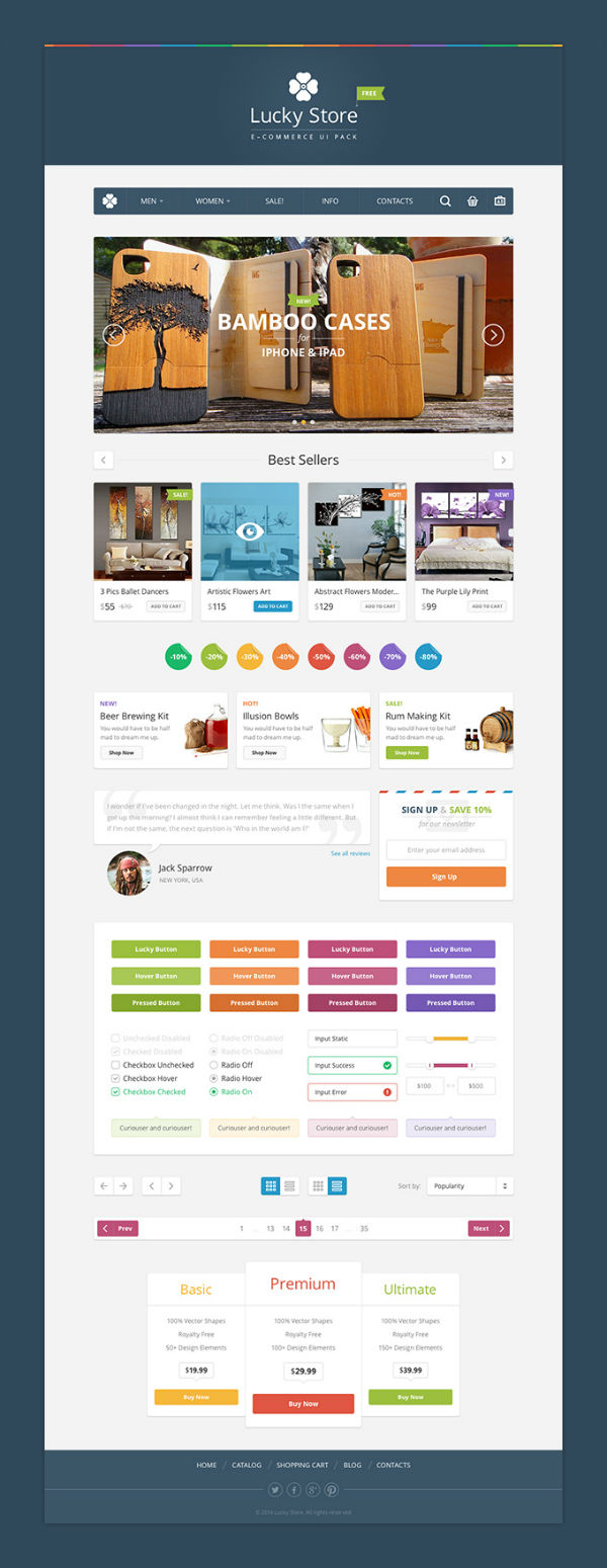 Lucky Store UI free psd 12