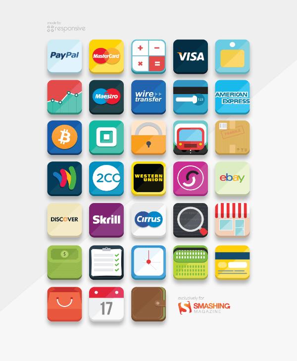 flat e-commerce icons 10