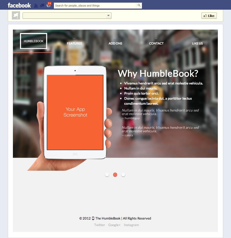 Multipurpose Facebook Template