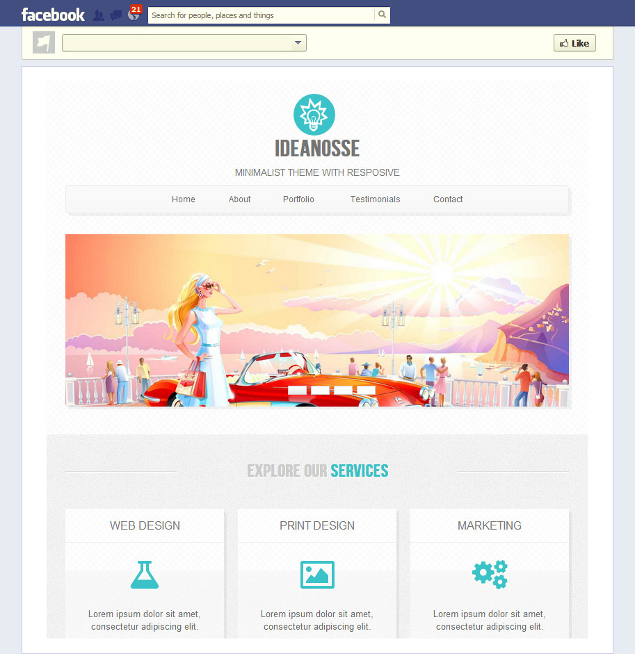 Facebook Html Template Free Wiring Diagram For You