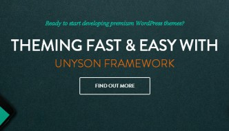Unyson – Free Drag & Drop WordPress Framework