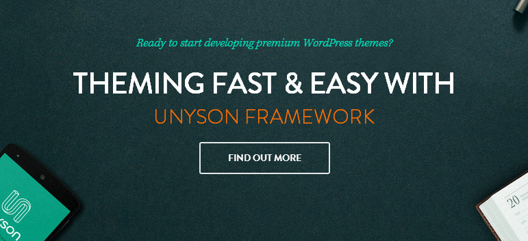 Unyson WordPress Framework